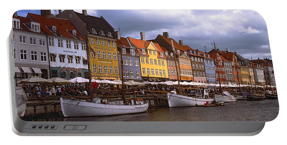Canal Scene Portable Battery Charger featuring the photograph Nyhavn Copenhagen by Sally Weigand