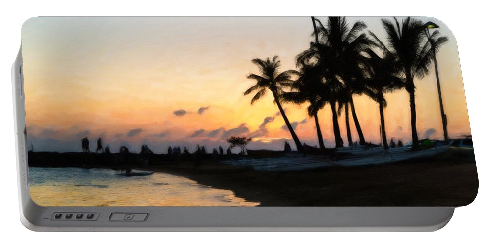 Sunset Portable Battery Charger featuring the photograph Oahu Sunset by Jon Burch Photography