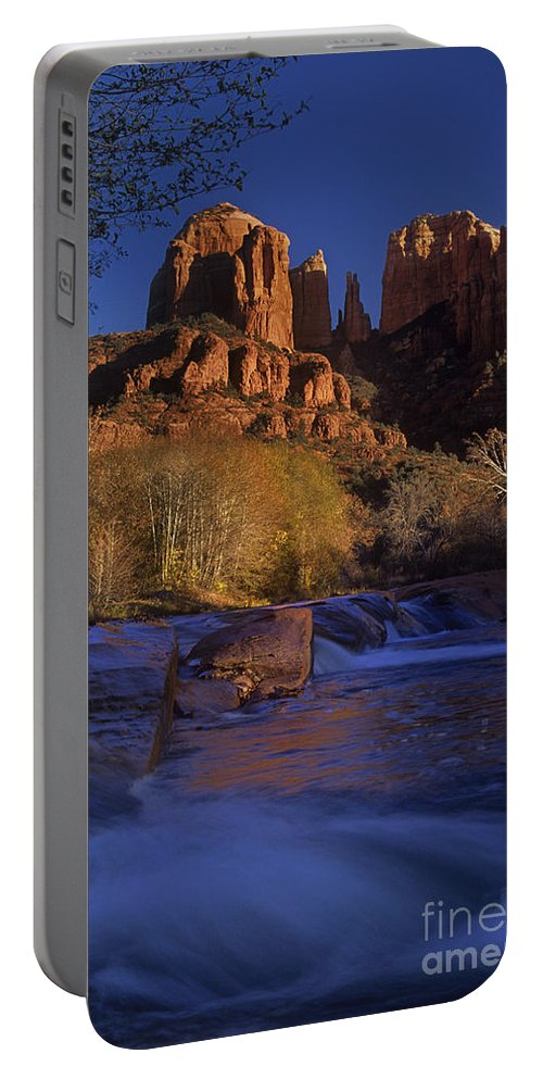 North America Portable Battery Charger featuring the photograph Oak Creek Crossing Sedona Arizona by Dave Welling