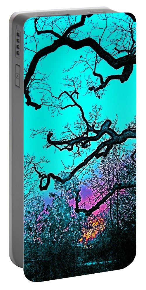Tree Portable Battery Charger featuring the photograph Oaks 4 by Pamela Cooper