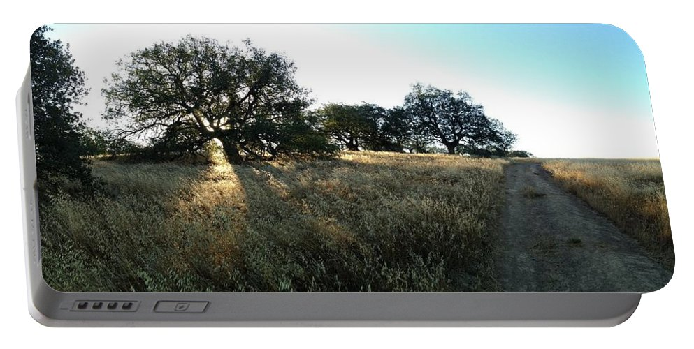 Oak Trees Portable Battery Charger featuring the photograph Oaks At The Plateau by Christine Owens
