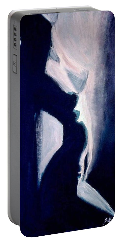 Beautiful Portable Battery Charger featuring the painting Oasis by Jarmo Korhonen aka Jarko