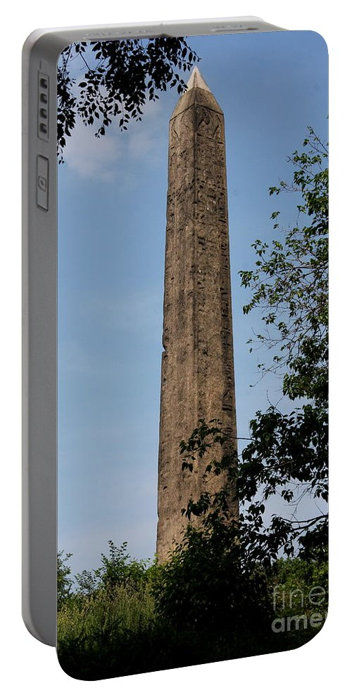 Obelisk Portable Battery Charger featuring the photograph Obelisk - Central Park Nyc by Christiane Schulze Art And Photography