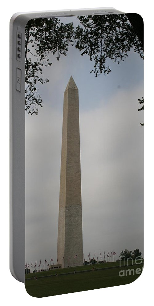 Obelisk Portable Battery Charger featuring the photograph Obelisk - Washington Dc by Christiane Schulze Art And Photography