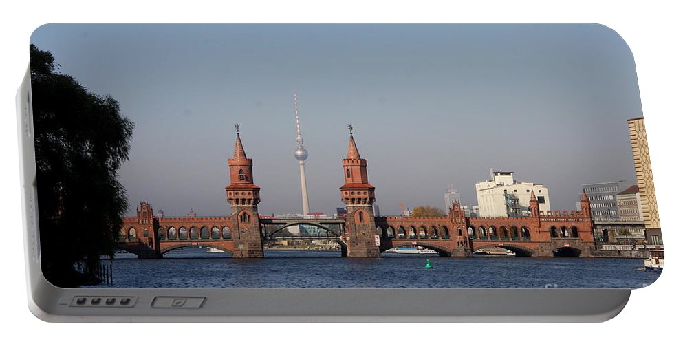 Oberbaum Bruecke Portable Battery Charger featuring the photograph Oberbaum Bridge - Berlin by Christiane Schulze Art And Photography