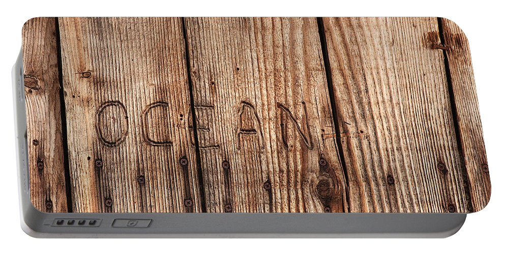 Cuyucos Portable Battery Charger featuring the photograph Ocean by Art Block Collections