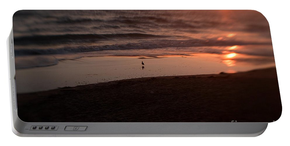 Sunset Portable Battery Charger featuring the photograph Ocean Glow by Scott Pellegrin