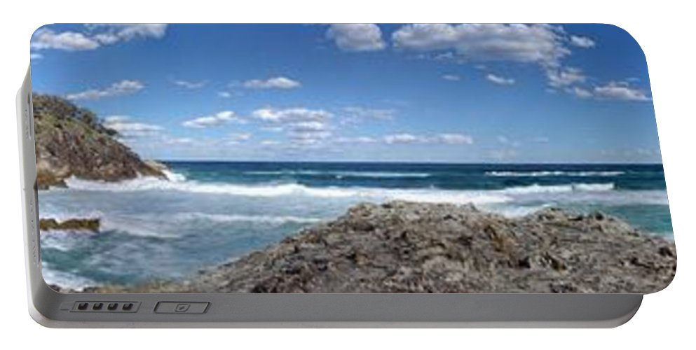 Landscape Portable Battery Charger featuring the photograph Great Ocean Road Surf, Australia - Panorama by Ian Mcadie