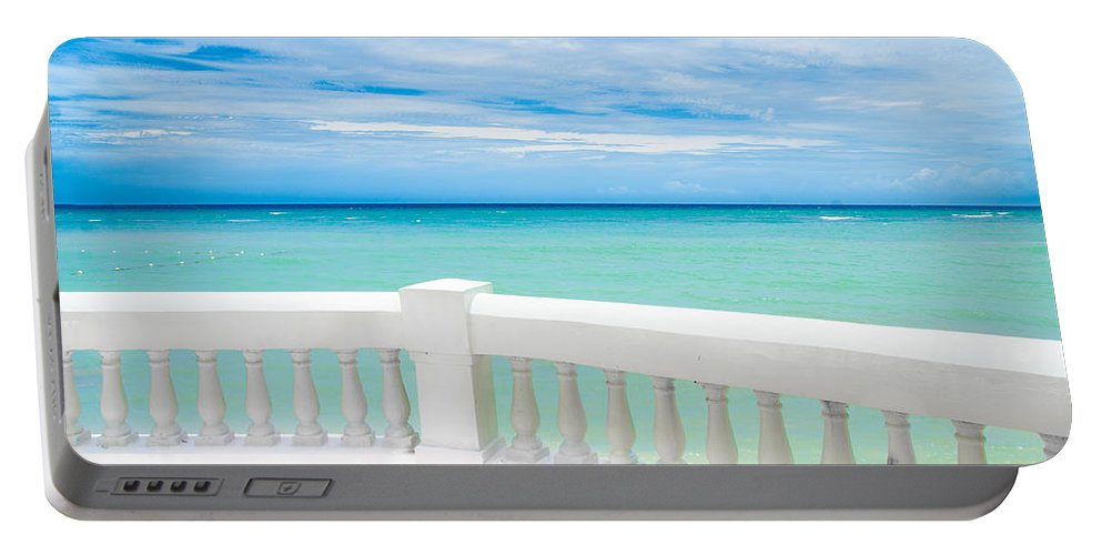 Sea Portable Battery Charger featuring the photograph Ocean View by Jacquelyn Crady