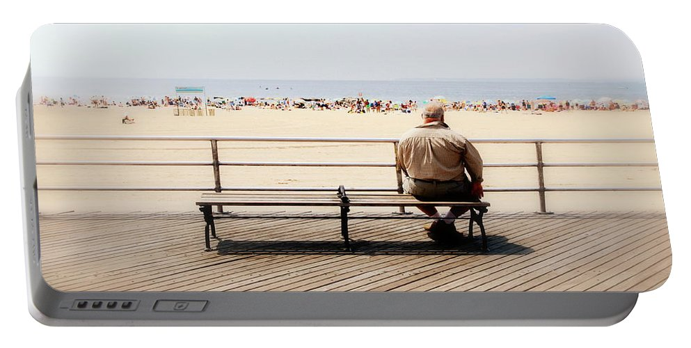 Ocean Portable Battery Charger featuring the photograph Ocean View by Valentino Visentini