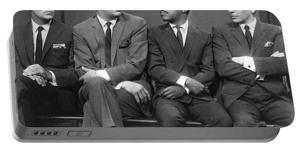 1960 Portable Battery Charger featuring the photograph Ocean's Eleven Rat Pack by Underwood Archives