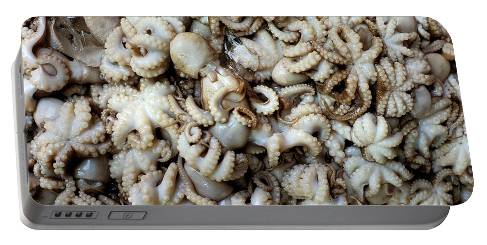 Fresh Portable Battery Charger featuring the photograph Octopuses by Rick Piper Photography