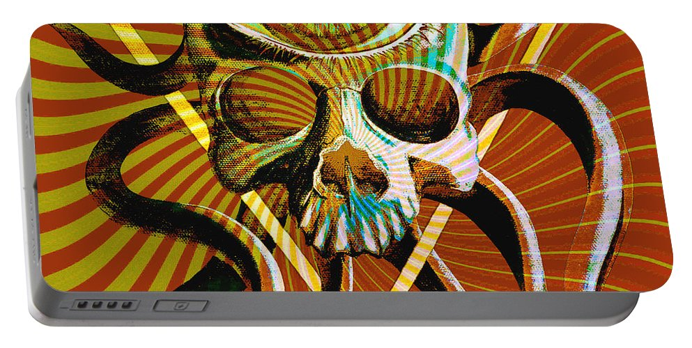 Hartwell Portable Battery Charger featuring the digital art Ocupus Remix by Steve Hartwell