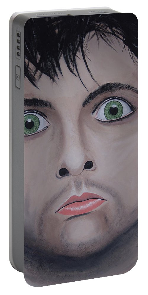 Rockumentory Portable Battery Charger featuring the painting Ode To Billie Joe by Dean Stephens