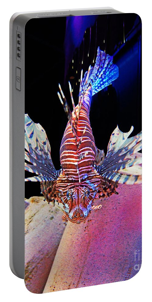 Lionfish Portable Battery Charger featuring the photograph Of Danger And Grace by Joe Geraci
