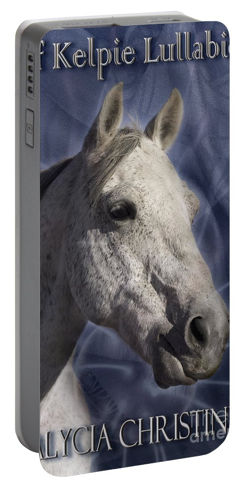 Book Portable Battery Charger featuring the digital art Of Kelpie Lullabies by Alycia Christine