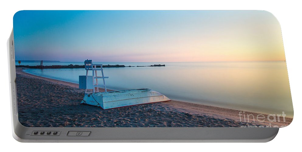Atwater Beach Portable Battery Charger featuring the photograph Off Duty by Andrew Slater