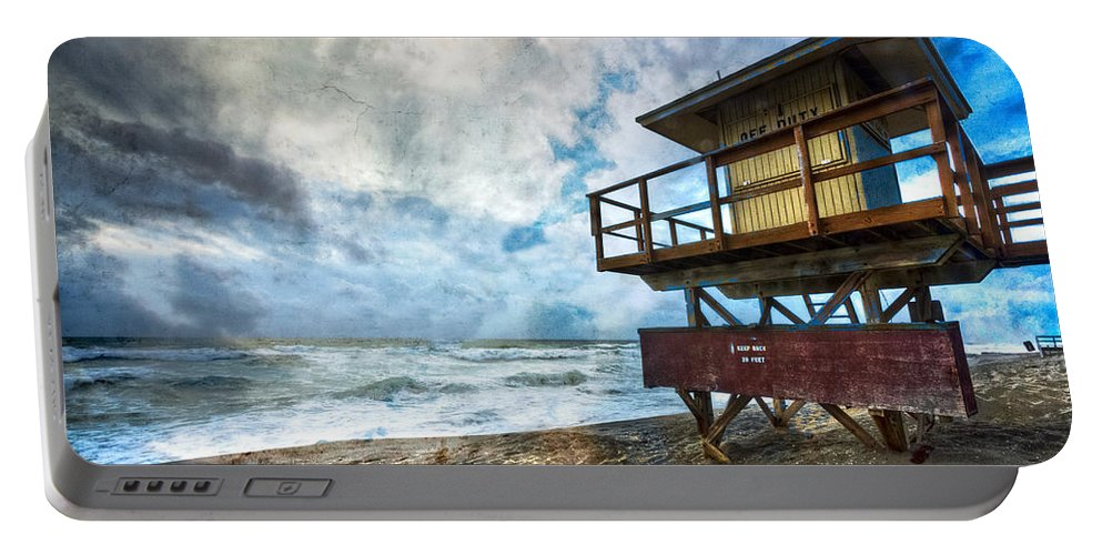 Clouds Portable Battery Charger featuring the photograph Off Duty by Debra and Dave Vanderlaan