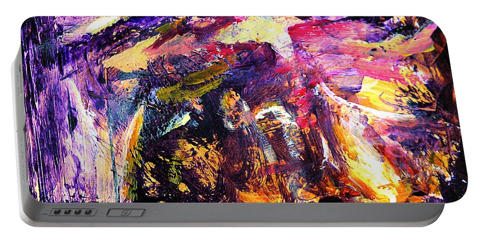 Abstract Portable Battery Charger featuring the painting Oh Holy Night by Julianne Felton