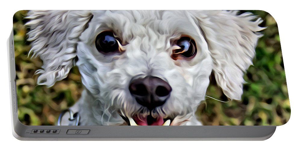 Dog Portable Battery Charger featuring the photograph Oh My That Face by Alice Gipson