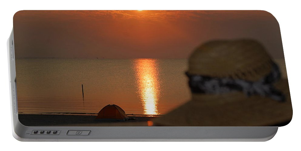Hat Portable Battery Charger featuring the photograph Oh The Hat by Leticia Latocki