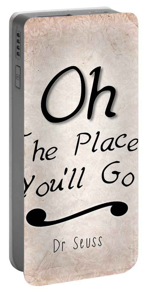 Dr Seuss Portable Battery Charger featuring the photograph Oh The Places You'll Go by Pati Photography