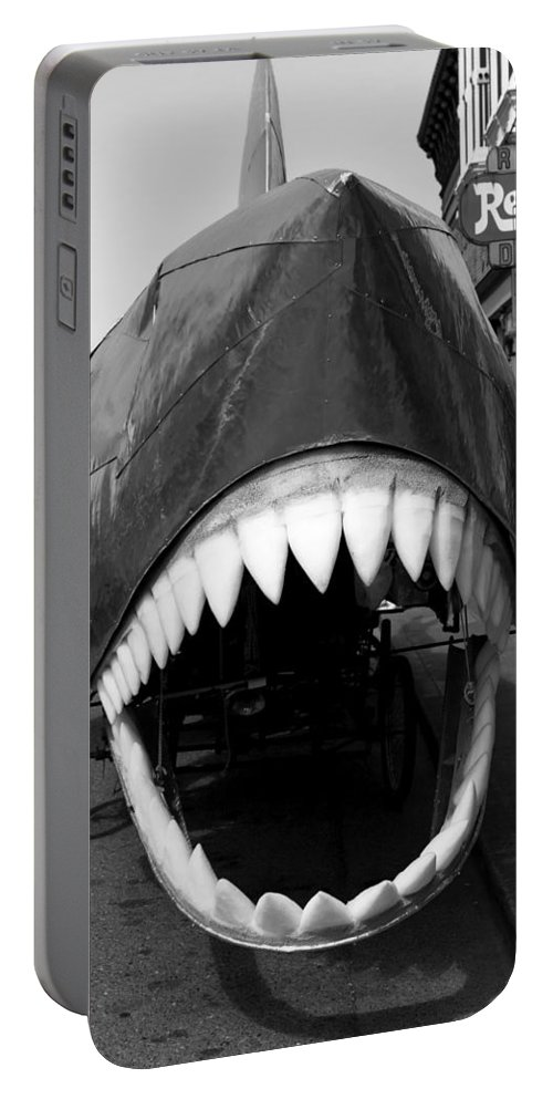 Ferndale Ca Portable Battery Charger featuring the photograph Oh The Shark Bites by Lorraine Devon Wilke