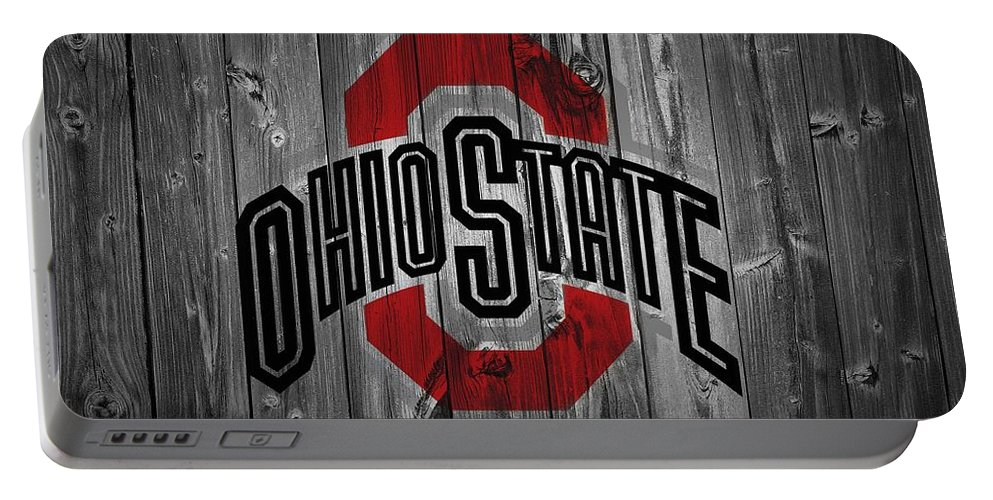 Ohio State University Portable Battery Charger featuring the digital art Ohio State University by Dan Sproul