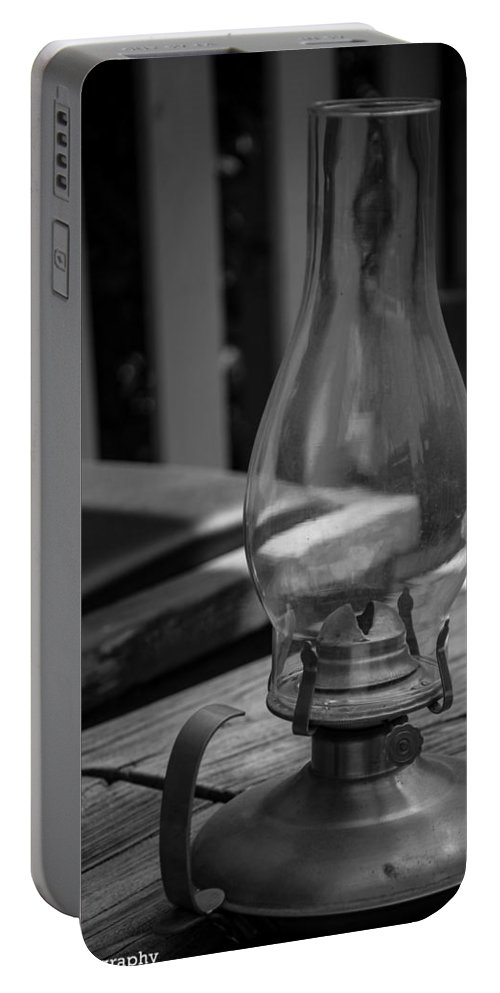 Malibu Cafe Portable Battery Charger featuring the digital art Oil Lamp by Gandz Photography