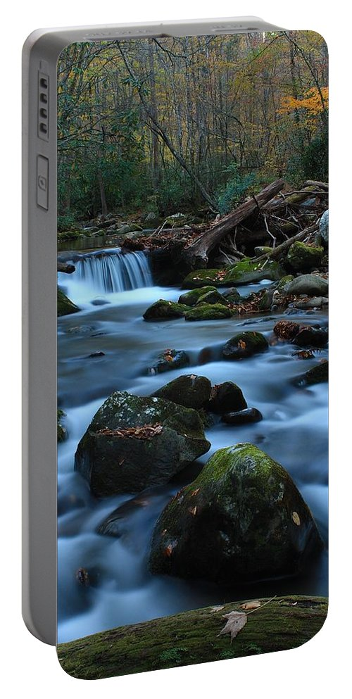 Okonaluftee Portable Battery Charger featuring the photograph Okonoluftee Mountain Stream by Nunweiler Photography