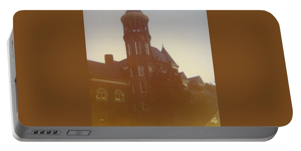 Upper Michigan College Portable Battery Charger featuring the photograph Olavet College by Robert Floyd