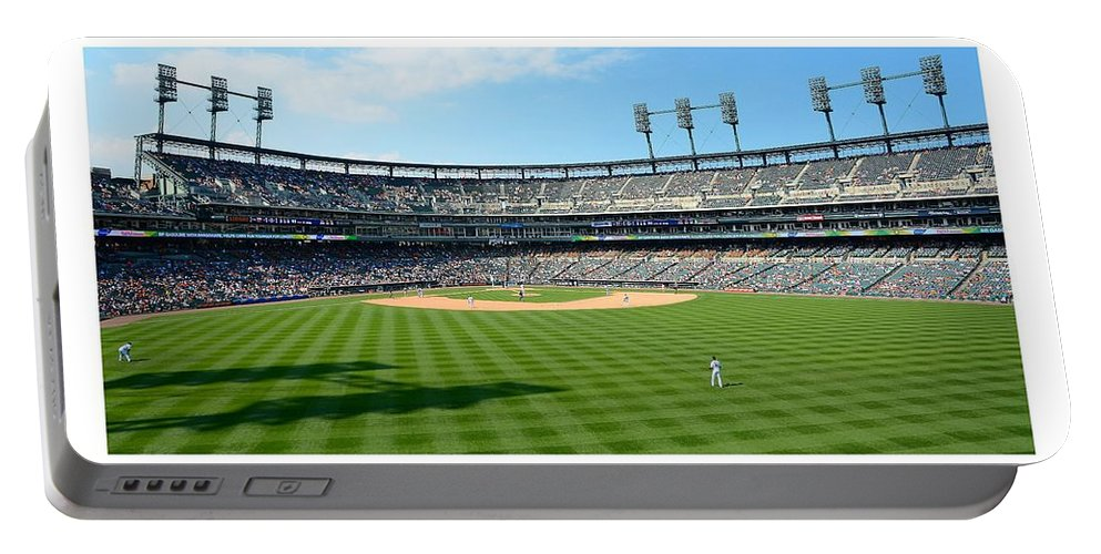 Detroit Portable Battery Charger featuring the photograph Old Ball Park by Charles Owens
