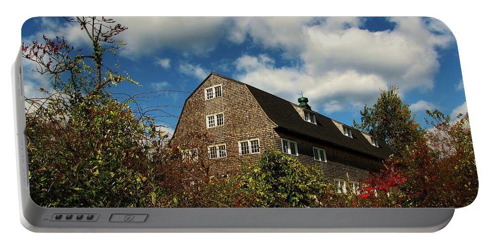 Wachusett Meadows Portable Battery Charger featuring the photograph Old Barn 2 by Michael Saunders