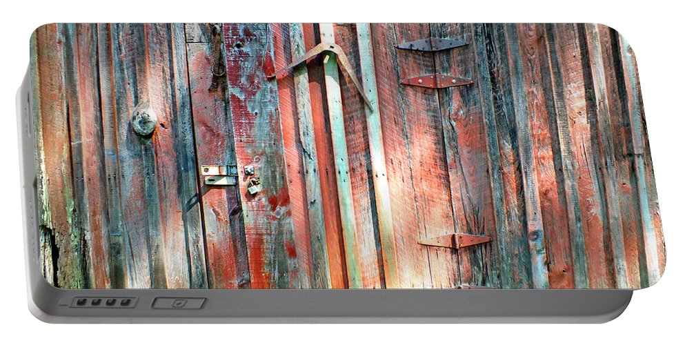 Duane Mccullough Portable Battery Charger featuring the photograph Old Barn Door 2 by Duane McCullough