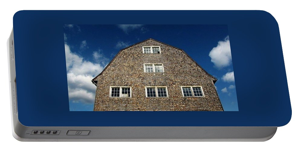 Barn Portable Battery Charger featuring the photograph Old Barn Princeton Ma by Michael Saunders