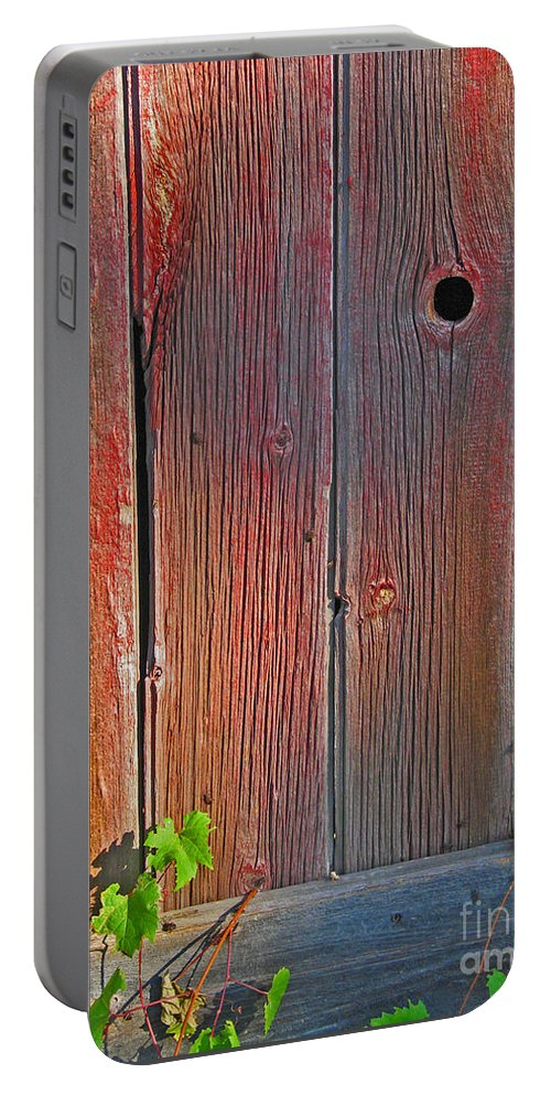 Barn Portable Battery Charger featuring the photograph Old Barn Wood by Ann Horn