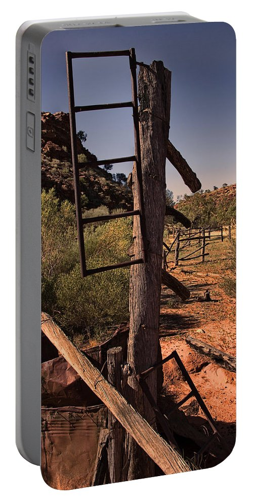 Old Cattleyard Portable Battery Charger featuring the photograph Old Cattle Station V2 by Douglas Barnard