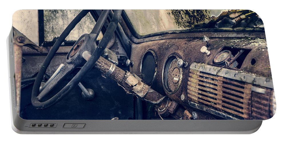 Dashboard Portable Battery Charger featuring the photograph Old Chevy Truck by Charlie Duncan