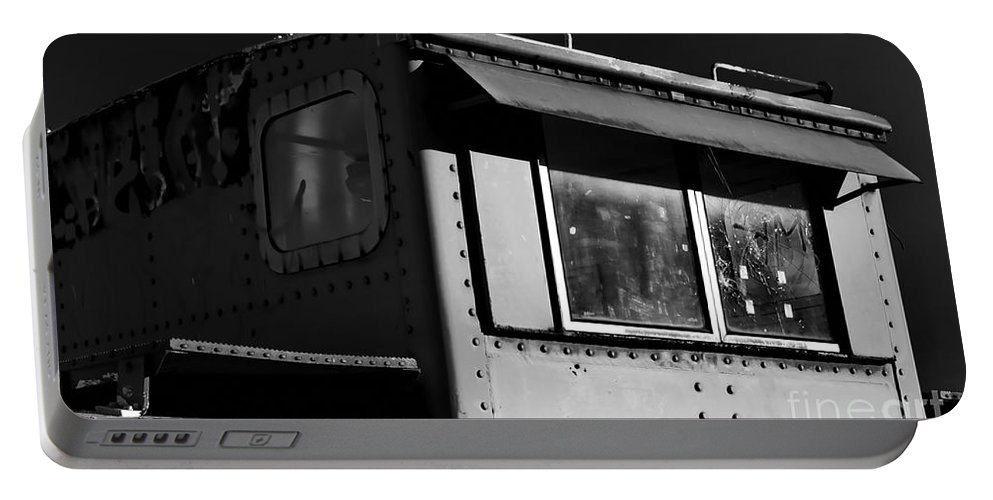 Digital Black And White Photo Portable Battery Charger featuring the digital art Old Copula Bw by Tim Richards