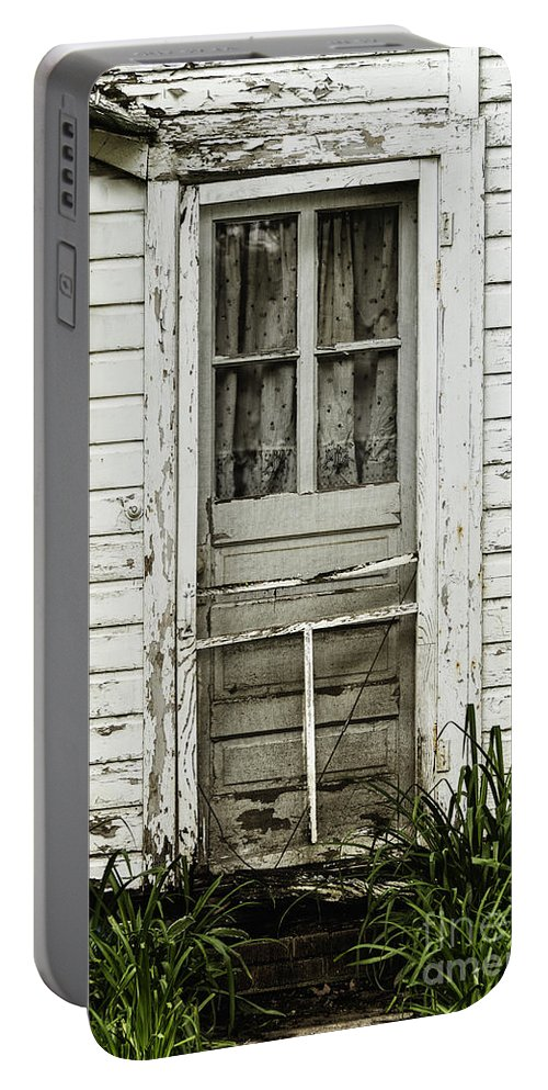 Door Portable Battery Charger featuring the photograph Old Door by Margie Hurwich