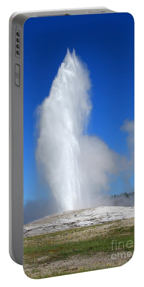 Water Portable Battery Charger featuring the photograph Old Faithful by Jemmy Archer