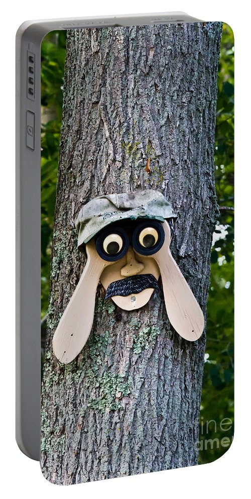 Tree Portable Battery Charger featuring the photograph Old Fashion Security Camera by Ms Judi