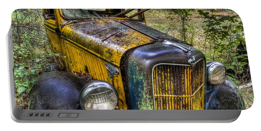 Rare Portable Battery Charger featuring the photograph Old Ford by Paul Freidlund