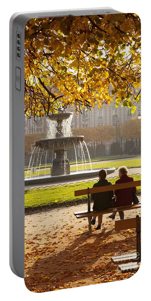 Architectural Portable Battery Charger featuring the photograph Old Friends by Brian Jannsen
