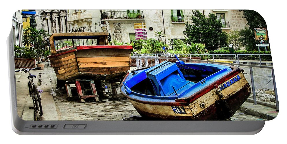 Cuba Portable Battery Charger featuring the photograph Old Havana by Karen Wiles