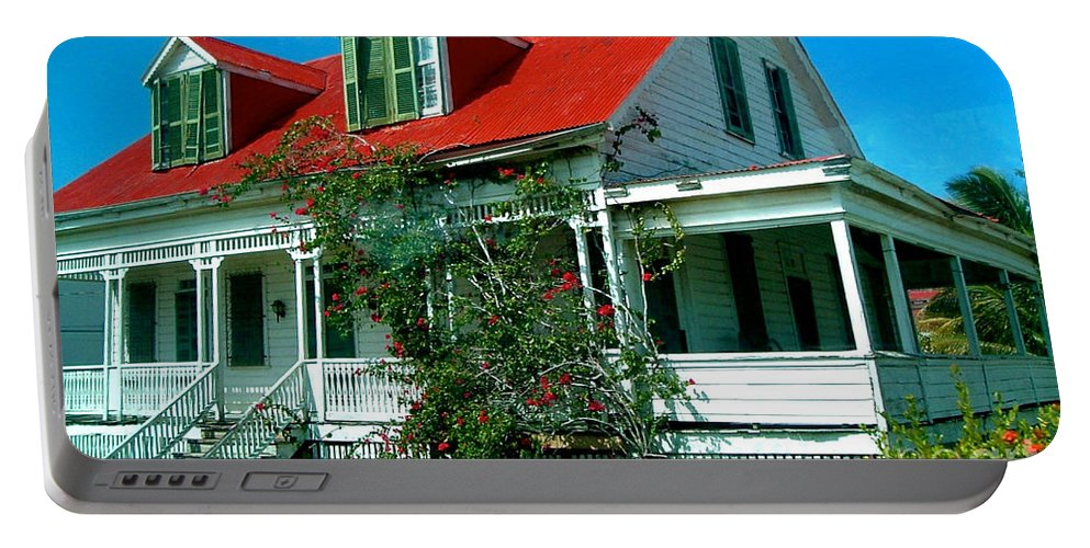 Scenery Portable Battery Charger featuring the photograph Old Home by Anita Lewis