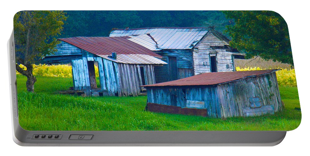 Old Portable Battery Charger featuring the photograph Old House And Harvest Time 2 by Nick Kirby