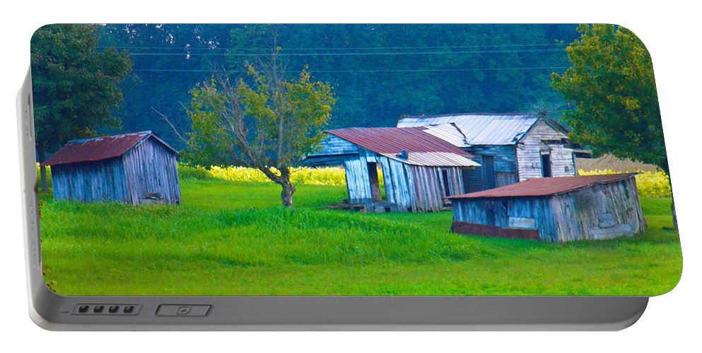 Old Portable Battery Charger featuring the photograph Old House And Harvest Time by Nick Kirby