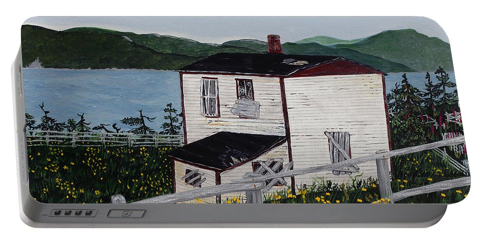 Old House If Walls Could Talk Portable Battery Charger featuring the painting Old House - If Walls Could Talk by Barbara Griffin