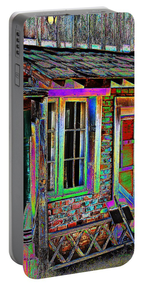 House Portable Battery Charger featuring the photograph Old House Pop Art by Phyllis Denton